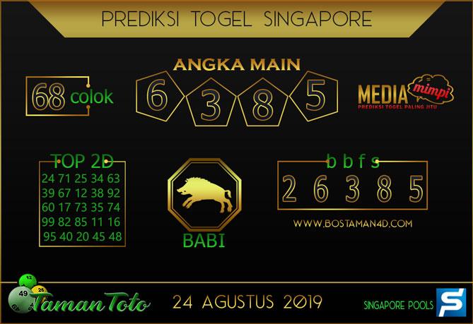 Prediksi Togel SINGAPORE TAMAN TOTO 24 AGUSTUS 2019