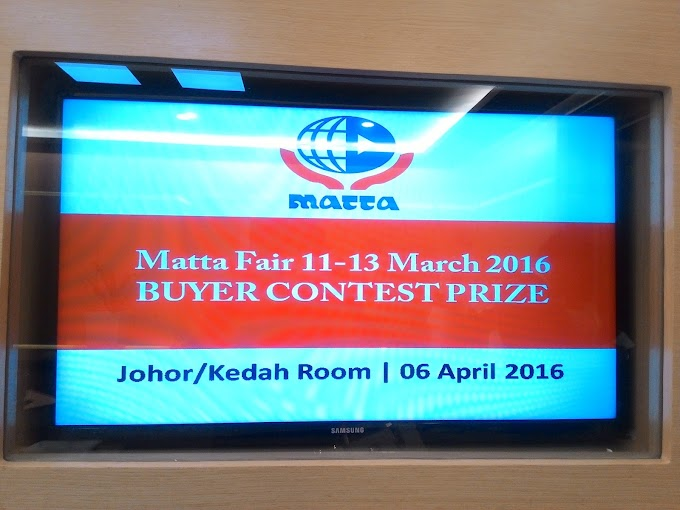 Saya menang dalam MATTA Fair Buyer Contest !