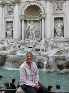 Trevi Fountain Rome. Photograph of Janie Robinson, Travel Writer