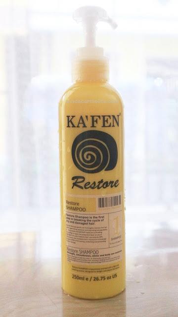 ka'fen shampoo, kafen shampoo, kafen shampoo restore, kafen shampoo review indonesis, kafen shampoo harga indonesia, harga kafen shampoo indonesia, review shampoo kafen, rambut kering, porositas
