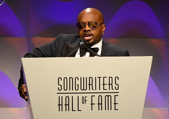 Jermaine Dupri was officially inducted into the Hall of Fame