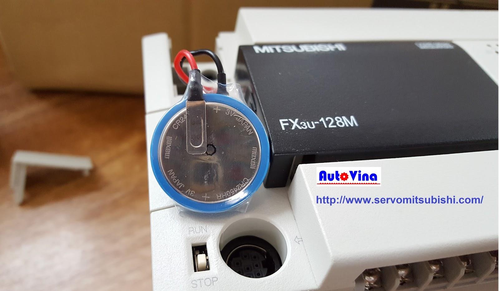 Đại lý bán Pin - Battery thay thế cho PLC Mitsubishi FX3U-128MT/ES-A