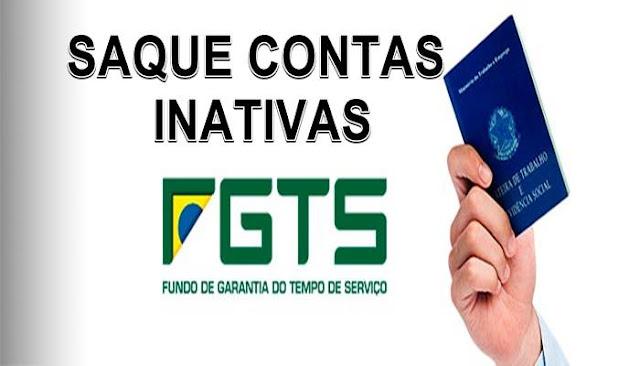 FGTS: Saque das contas inativas