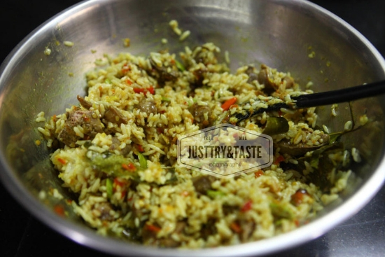 Resep Nasi Pepes Hati Ampela Jamur JTT