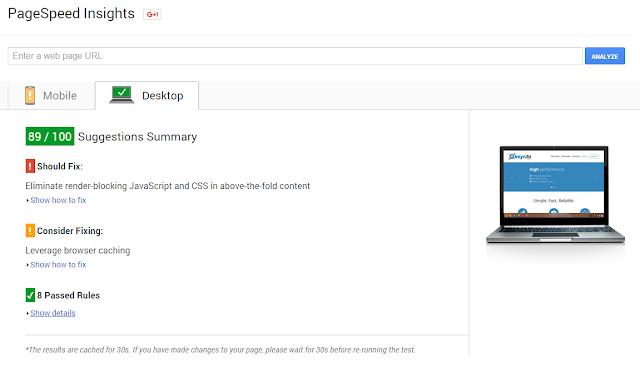 công cụ Google PageSpeed Insights cho SEO