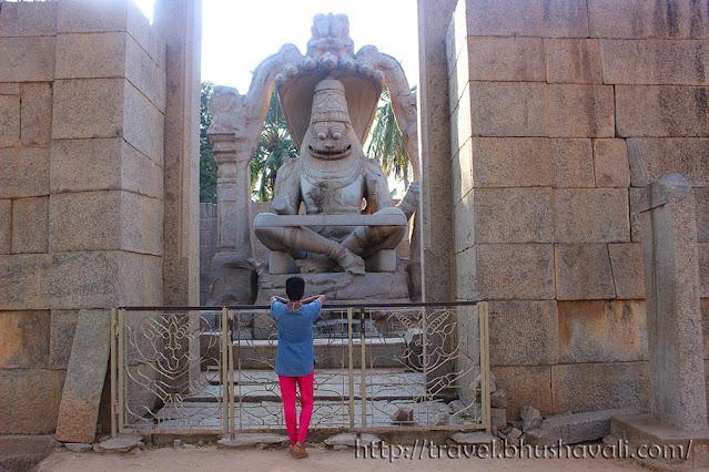 UNESCO World Heritage Sites in India - Hampi Yoga Narasimhar