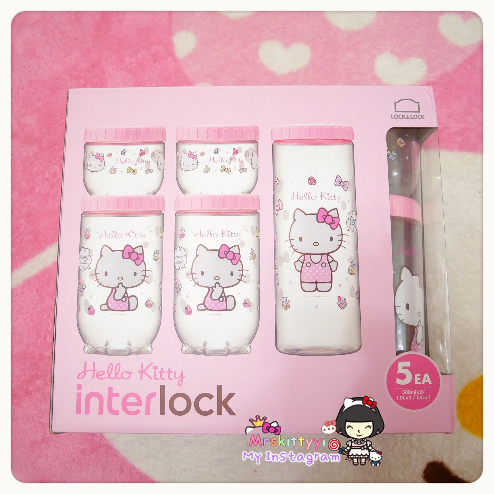 This Hello Kitty Interlock Storage Containers Is 1 Set, 2 Small,2 Medium U0026  1 Long. Iu0027m Selling This,I Have Ready Stock. It Is Restocked Back As 1st  Batch ...