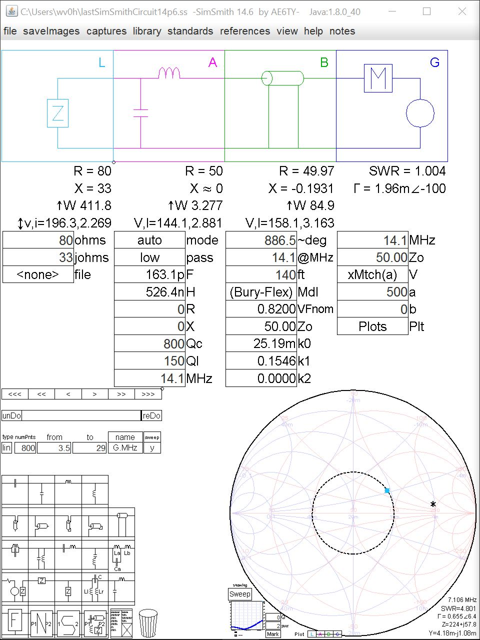hight resolution of case 1b 2 1 high z 80 j33ohms tuner at antenna
