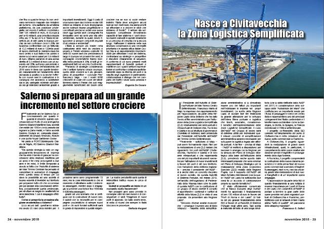 NOVEMBRE 2018 PAG. 25 - Nasce a Civitavecchia la Zona Logistica Semplificata