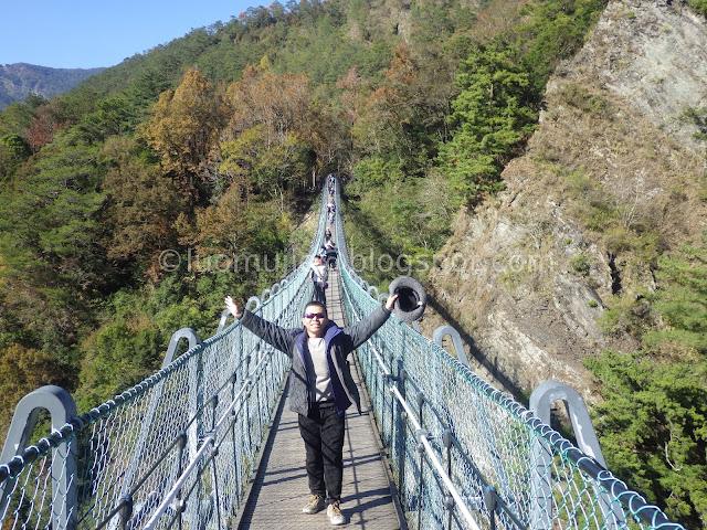 Taiwan Aowanda (奧萬大) maple season - Aowanda Suspension Bridge