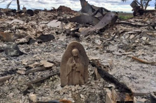 Fire destroys Family's home in Texas and leaves Holy Mary Statue Untouched