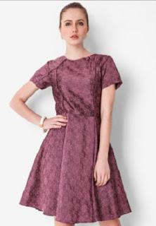 Dress Batik Kantor Kerja