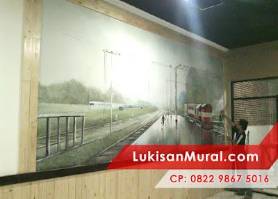 lukisan tembok kamar hitam putih
