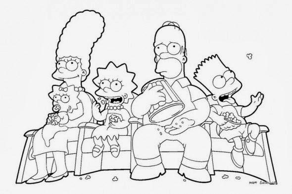 Desenhos : Desenhos Dos Simpsons Para Colorir E Imprimir