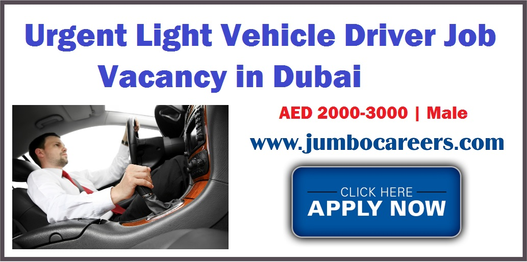 Dubai Free Zone Light Driver Jobs