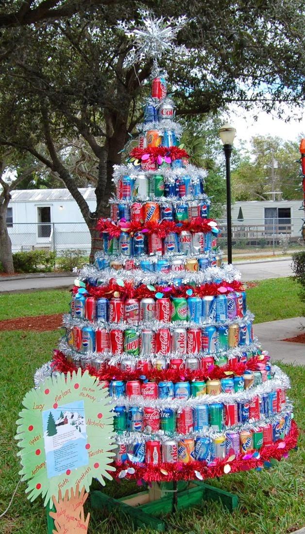 Rbol de navidad original y creativo colores en casa - Arbol de navidad hecho en casa ...