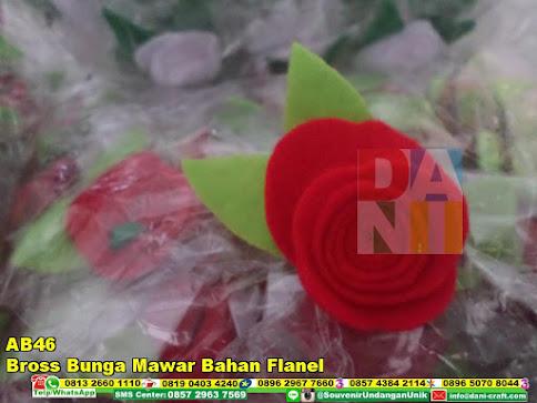 jual Bross Bunga Mawar Bahan Flanel
