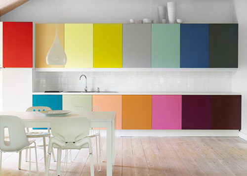 The House By The Danube Monday Inspiration Colorful Kitchen Cabinets