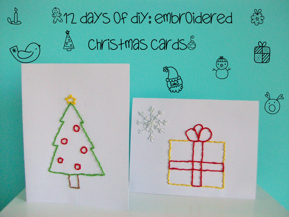 MooeyAndFriends12 Days Of DIYEmbroidered Christmas Cards
