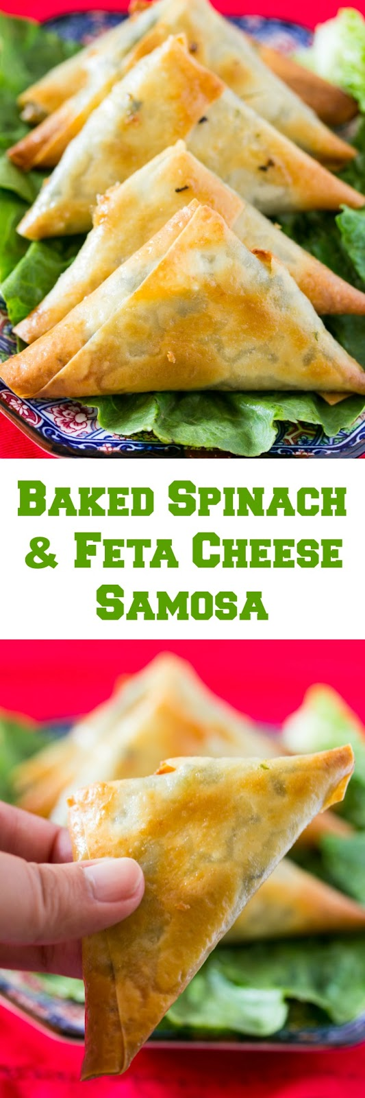 Baked Spinach and Cheese Samosa