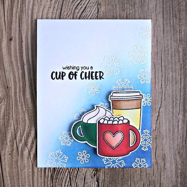 Sunny Studio Stamps: Mug Hugs Hot Cocoa Card by Rachel Bergfeld