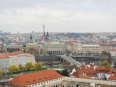 views from Prague Castle what claire did travel blog