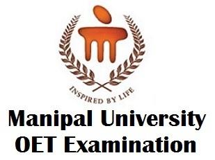 Manipal University OET Hall Ticket 2018