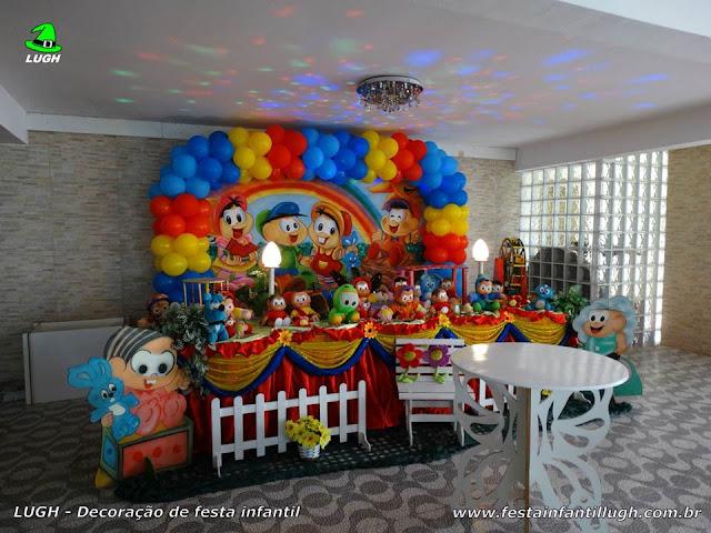 Mesa decorada infantil Turma da Mônica - Aniversário - Decoração tradicional luxo