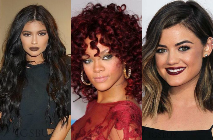 Perucas das famosas de 2016 na Wigsbuy, Celebrity Style Wigs In Wigsbuy, wig kylie jenner, wig rihanna, wig lucy hale, wigsbuy