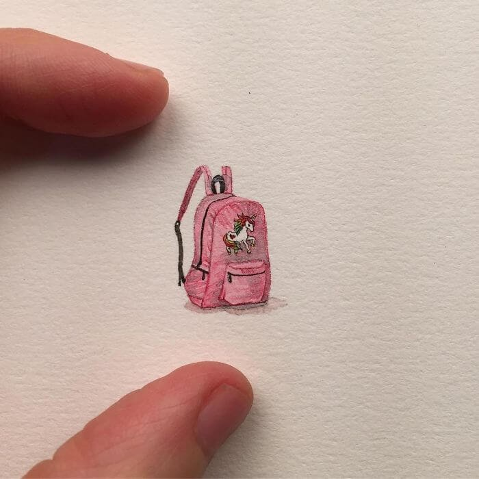 13-Pink-Unicorn-Backpack-Brooke-Rothshank-Miniature-Paintings-www-designstack-co