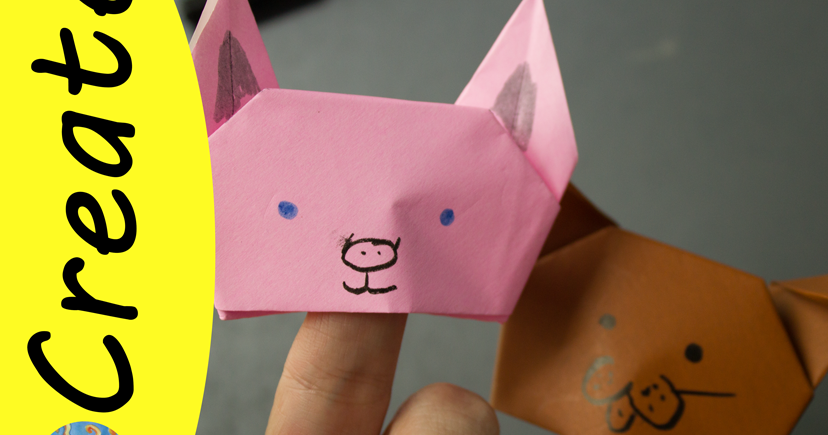 How To Make A Paper Finger Puppet Dog - YouTube | 435x828