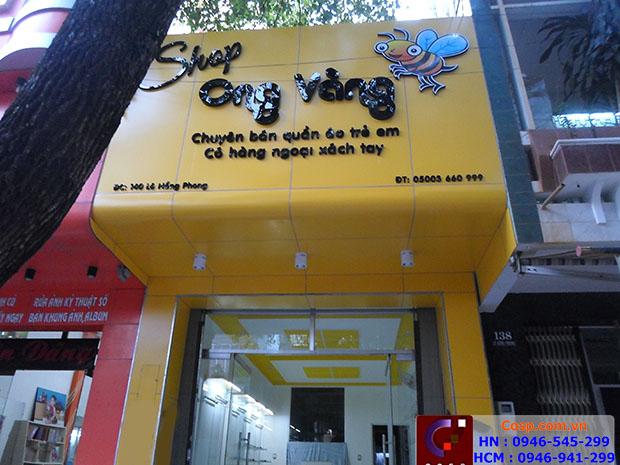 Bảng hiệu shop ong vàng