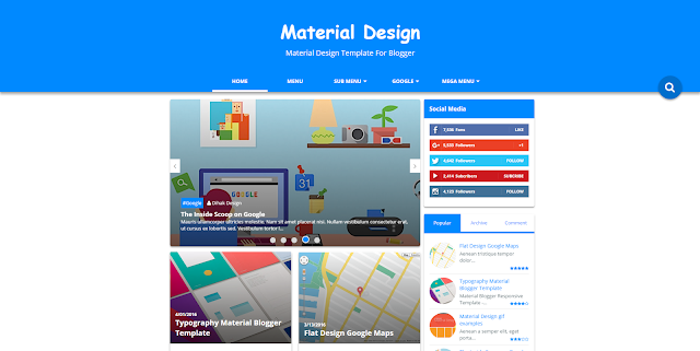 Blogger İçin Material Design Teması
