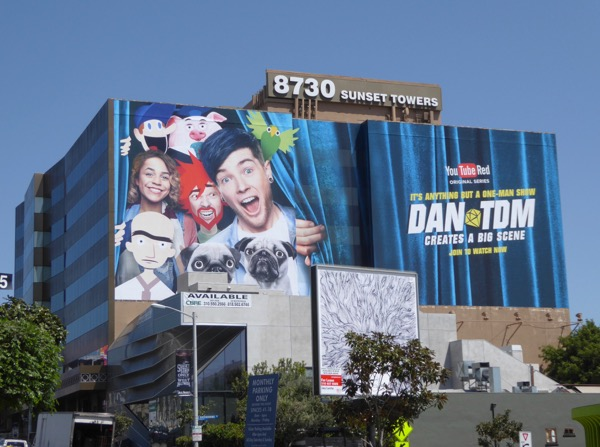 Giant DanTDM YouTube Red series billboard