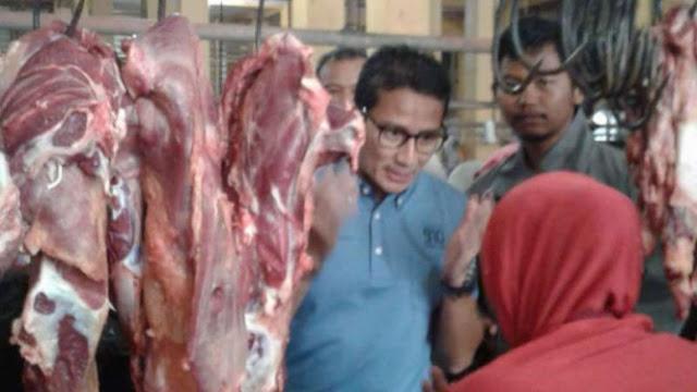Sandiaga Blusukan ke Pasar Yogya, Pedagang Curhat Daya Beli Turun