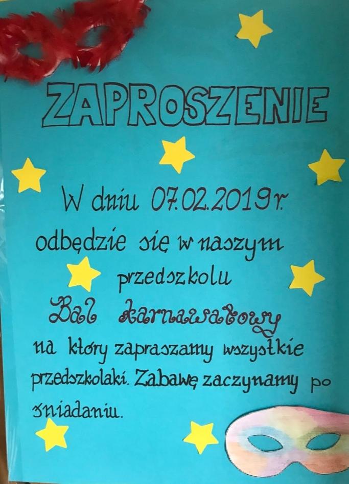 Grupa Myszorki Zaproszenie Na Bal Karnawałowy
