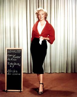 Prueba de vestuario de Marilyn Monroe para la película Niagara