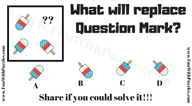 It is Non Verbal Reasoning Puzzle for Kids in which has to find the puzzle image which will replace the question mark