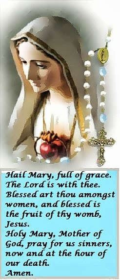 Hail Mary full of Grace, ....