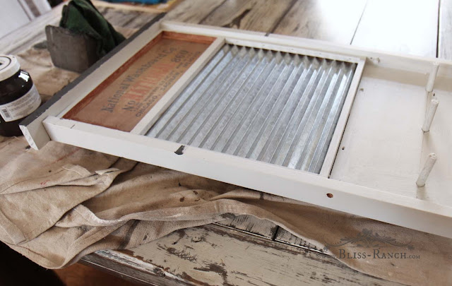 Thrift Store Decor, Washboard Redo, Bliss-ranch.com