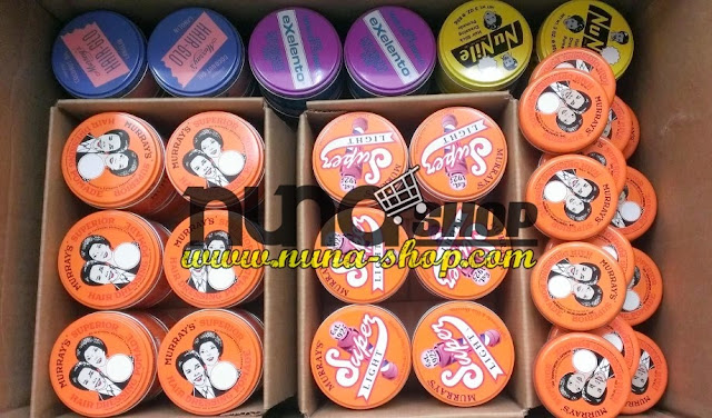 Ready Stock POMADE MURRAY'S (SUPERIOR, NU NILE, SUPERLIGHT, EXELENTO, HAIR GLO), minyak rambut, wax