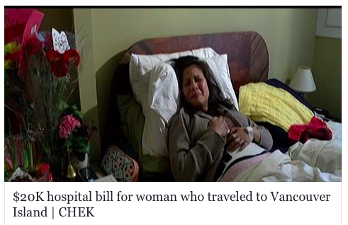 Woman from Philippines, visiting family on Vancouver Island, slammed with $20K hospital bill