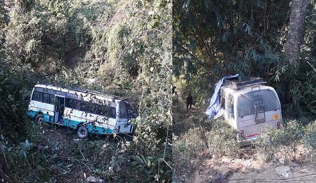 Bus accident at mirik