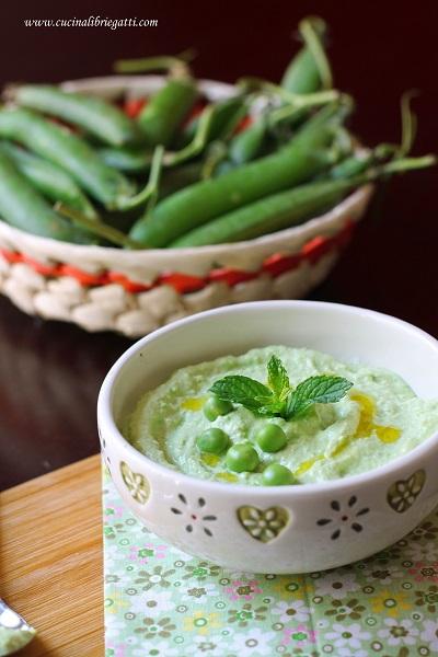 crema piselli ricotta ricetta vegetariana