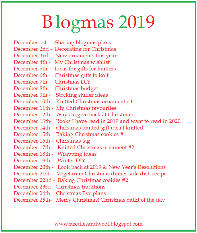 Blogmas Plan This Year!