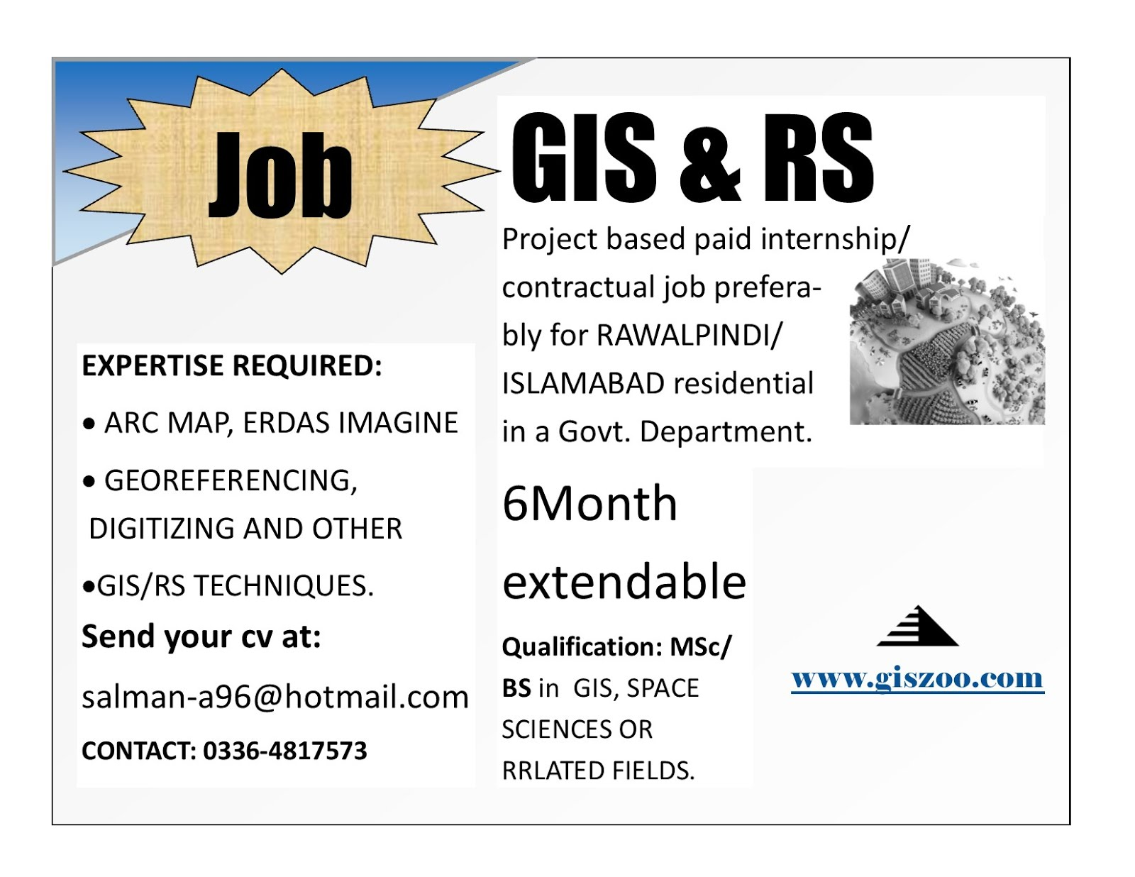 GIS and Rs Project based paid internship - GIS ZOO