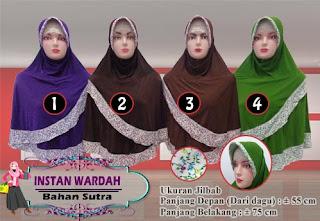 Jilbab instan pet polos model terbaru kombinasi motif cantik