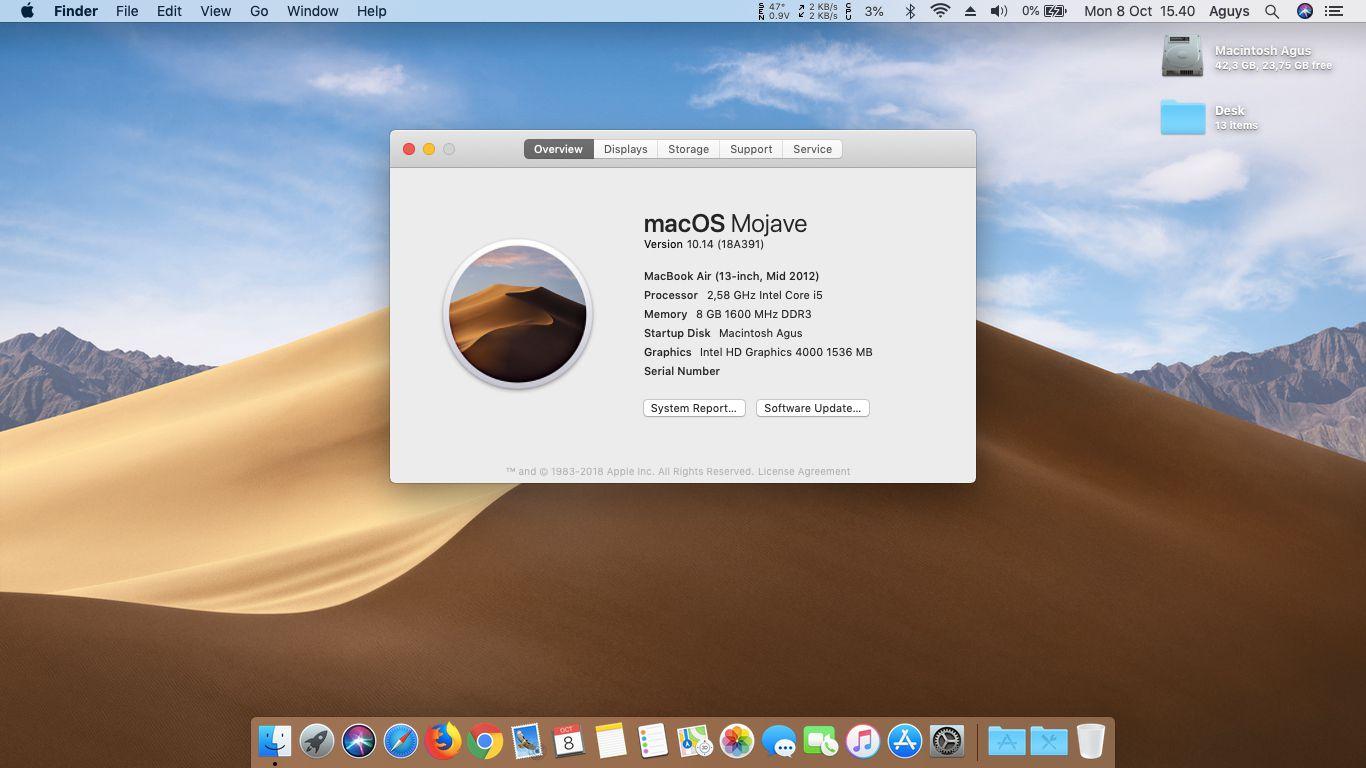 Hackintosh Mojave 10 14 Final Di Acer V5-471G ~ Agus Blog: Blog Gak