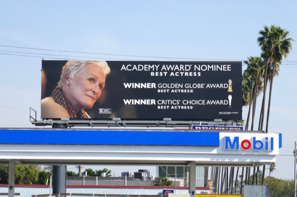 Glenn Close Wife Academy Award nominee billboard