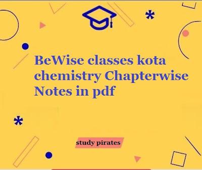 bewise classes kota chemistry